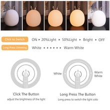 Load image into Gallery viewer, Cute Deer / Rabbit design LED Night Light USB Rechargeable Lamp For Children Kids Baby Bedside Bedroom