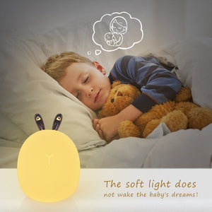 Cute Deer / Rabbit design LED Night Light USB Rechargeable Lamp For Children Kids Baby Bedside Bedroom
