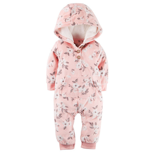 Pink Flower pattern Baby and Toddler Jumpsuit onesie Romper