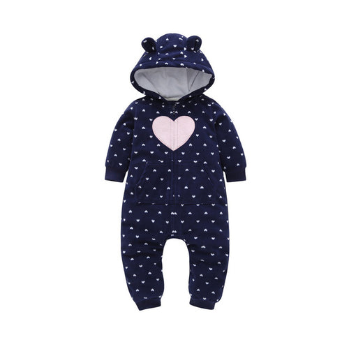 Blue Pink Heart Baby and Toddler Jumpsuit onesie Romper