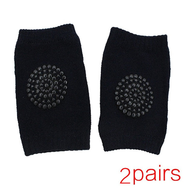 2-pairs Soft Anti-slip Knee Pads for Baby