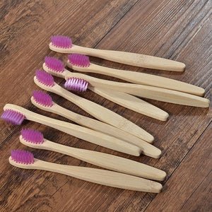 10 pcs Kids Eco Friendly Bamboo Toothbrush Soft Bristles