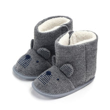 Load image into Gallery viewer, Baby Winter Boots Infant Toddler Newborn Cute Cartoon Bear Shoes