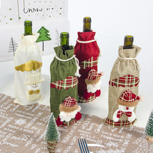 Load image into Gallery viewer, Christmas Wine Bottle Covers: Santa Claus, Snowman Xmas Bags Party Table Home Decor