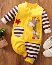 Load image into Gallery viewer, Baby Giraffe Design romper