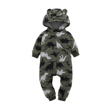 Load image into Gallery viewer, Dinosaur Baby and Toddler Jumpsuit onesie Romper