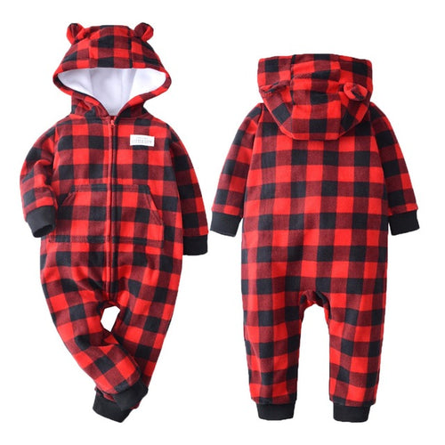 Chequered Baby and Toddler Jumpsuit onesie Romper