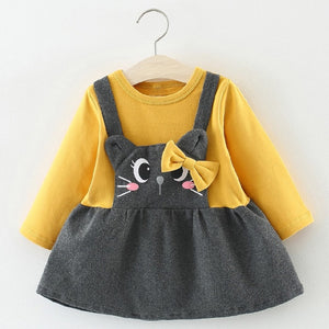 Cute Cat Design Dress for Baby and Toddler Girl