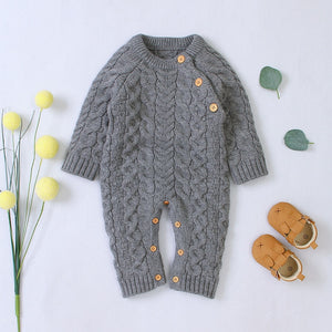 Baby Boy / Girl Knitted Long-sleeve Jumpsuit