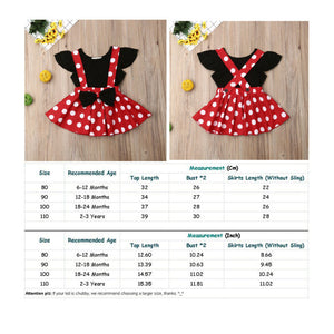 "Baby / Toddler Top and Polka Dots Skirt set ""Minnie"" design"