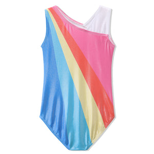Sleeveless Rainbow Gymnastics Leotard