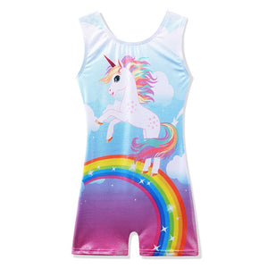 Sleeveless Unicorn Gymnastics Unitard (Leotard)