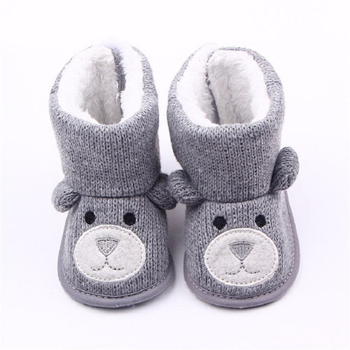 Baby Winter Boots Infant Toddler Newborn Cute Cartoon Bear Shoes
