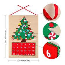 Load image into Gallery viewer, DIY Felt Christmas Advent Calendar with Pockets and Hanging Ornaments