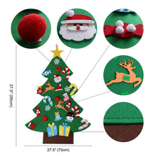 Load image into Gallery viewer, DIY Felt Christmas Tree Wall Hanging Decoration