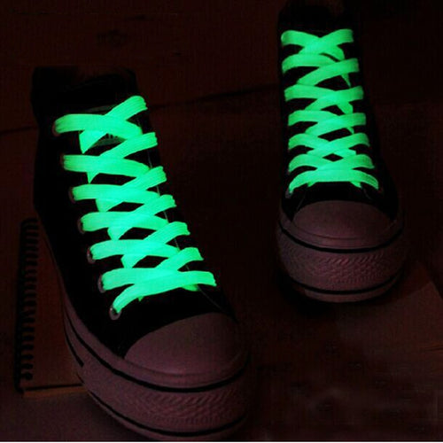 Neon Fluorescent Shoe Laces Glow in the dark