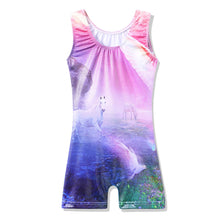 Load image into Gallery viewer, Sleeveless Unicorn Gymnastics Unitard (Leotard)