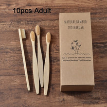 Load image into Gallery viewer, Multi-Pack Parent & child Eco Friendly Bamboo Toothbrushes Soft Bristles (Adult & Kids)