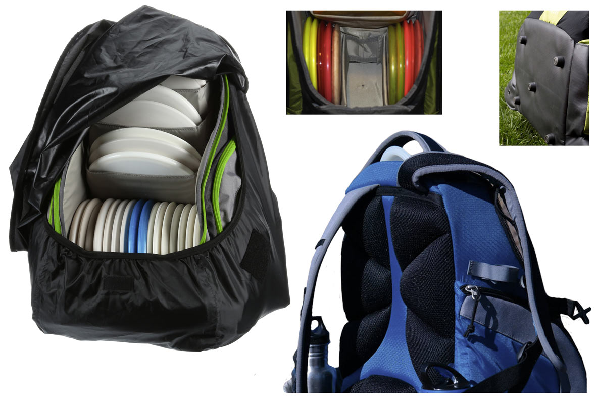 Rebel disc golf backpack details