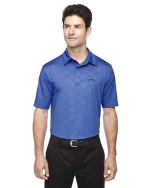 Upper Park Disc Golf Polo - The Ultimate Performance Polo - Blue Front