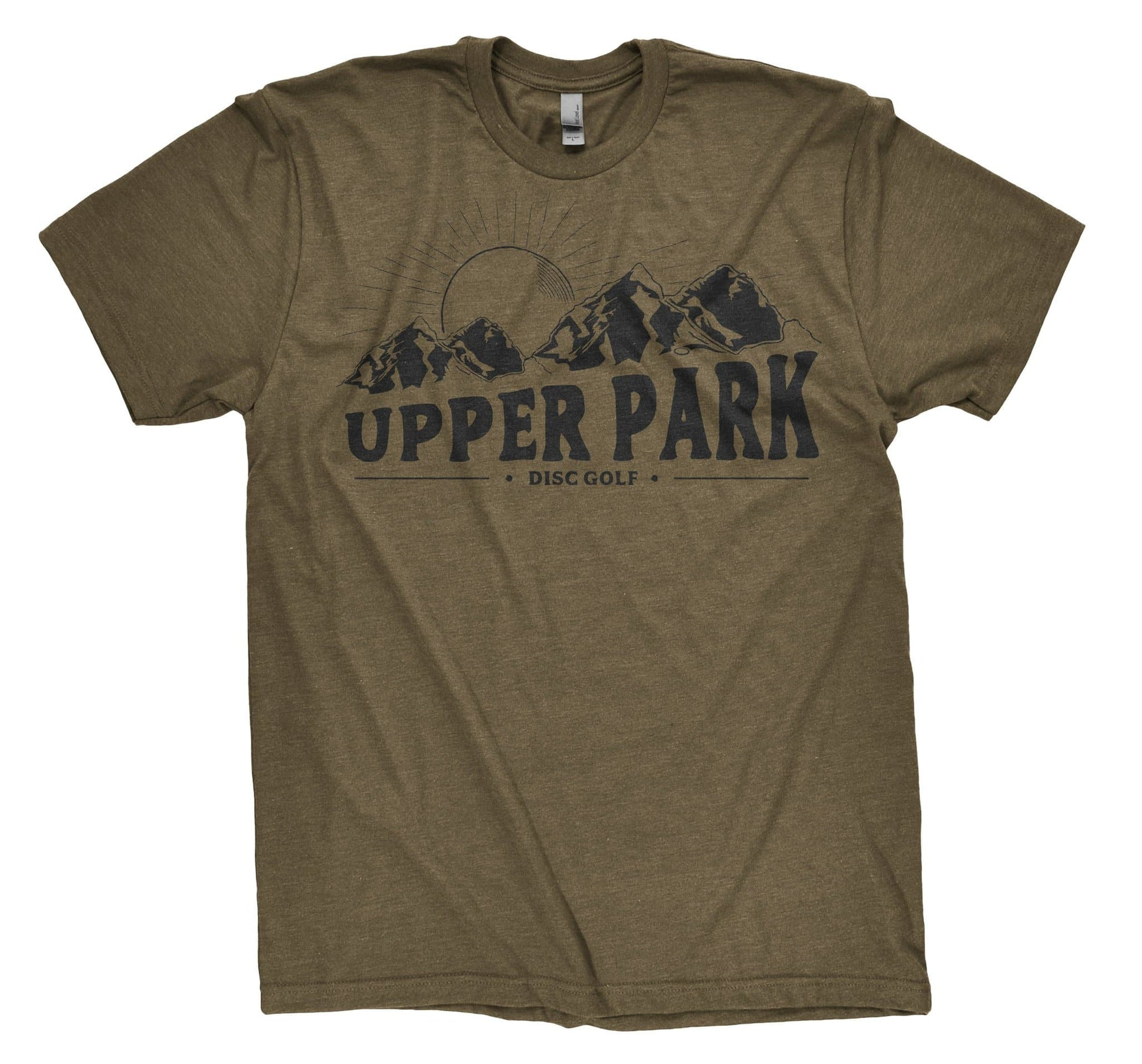 Upper Park Disc Golf Shirts - Upper Park Mountains T-Shirt