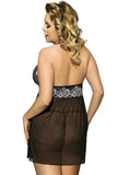 Black Lace Babydolls Sling Nightgown