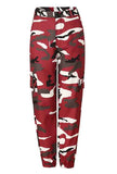 Plus Size Brown Camo Print Loose Casual Pants