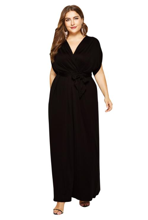 White Flutter Sleeve Jersey Knit Plus Size Maxi Dress