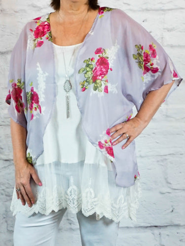 kimono Amy - Lavender - The Ruby Lotus Boutique
