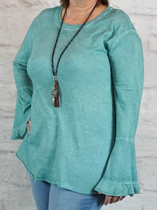 Top Beth - Green - The Ruby Lotus Boutique