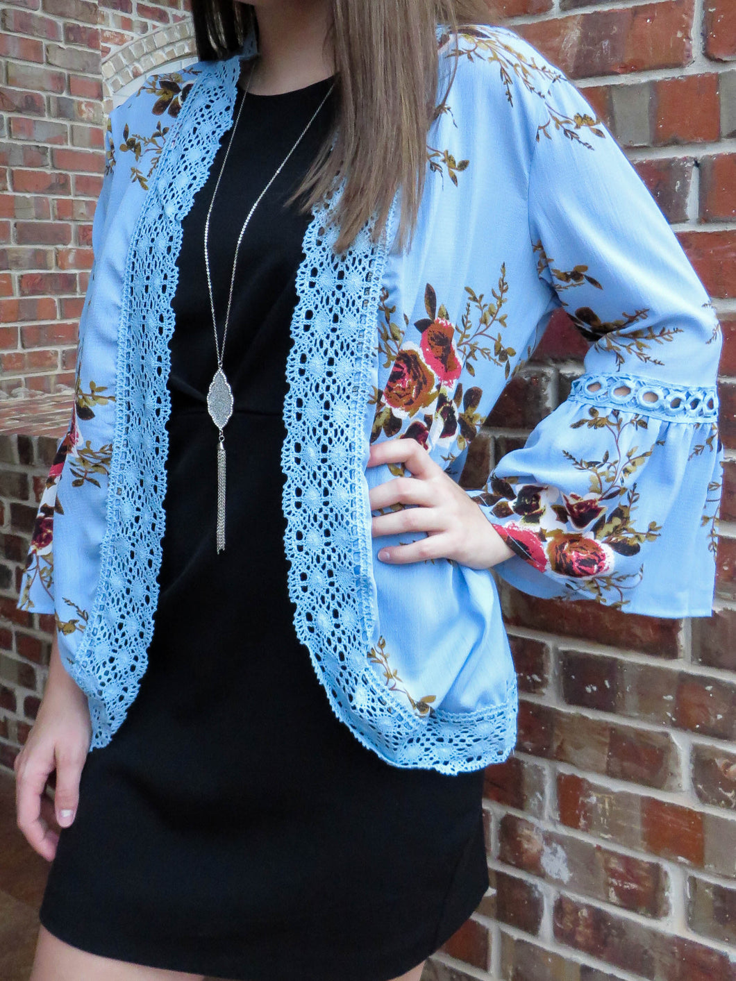 kimono Brittany - Blue - The Ruby Lotus Boutique