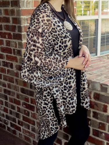 kimono Chrissy - Leopard - The Ruby Lotus Boutique