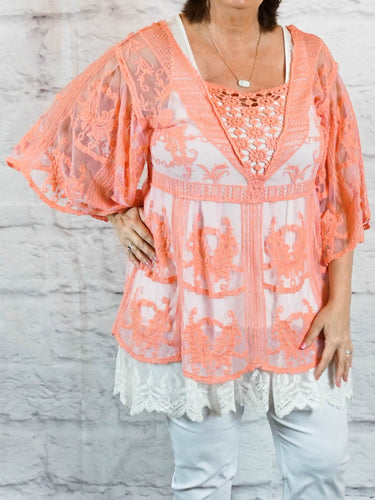 Top Evie - Salmon - The Ruby Lotus Boutique