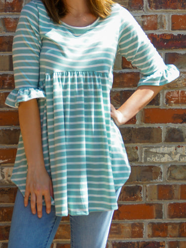 Top Hailey - Mint - The Ruby Lotus Boutique