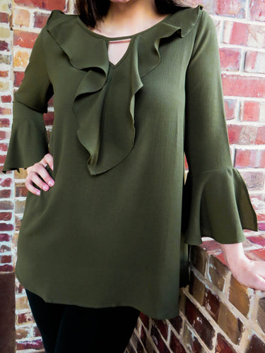 Top Isabella - Olive - The Ruby Lotus Boutique