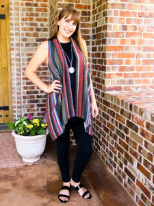 Top Jessie - Striped Vest - The Ruby Lotus Boutique