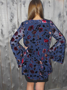 kimono Olivia - Blue - The Ruby Lotus Boutique