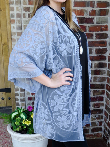 kimono Penny - Blue - The Ruby Lotus Boutique
