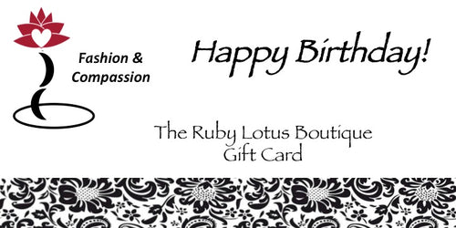 Gift Card Gift Card - Happy Birthday! - The Ruby Lotus Boutique