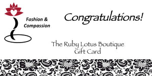 Gift Card Gift Card - Congratulations! - The Ruby Lotus Boutique