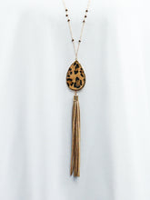 Adelaide - Long Leopard Necklace Set