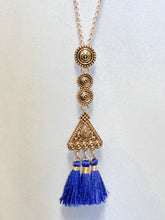 Jewelry Athens - Long Chain Necklace Set - Blue - The Ruby Lotus Boutique