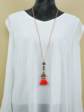 Jewelry Athens - Long Chain Necklace Set - Red - The Ruby Lotus Boutique