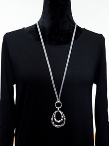 Jewelry Berlin - Long Faux Leather Necklace - The Ruby Lotus Boutique