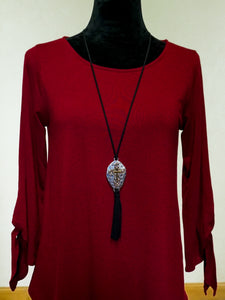 Jewelry Bristol - Long Cross Necklace - The Ruby Lotus Boutique