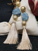 Jewelry Havana- Blue and Taupe - The Ruby Lotus Boutique