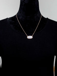 Jewelry Newcastle - Short Chain Necklace Set - White - The Ruby Lotus Boutique