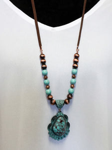 Jewelry Tulum - Long Strap Necklace Set - The Ruby Lotus Boutique