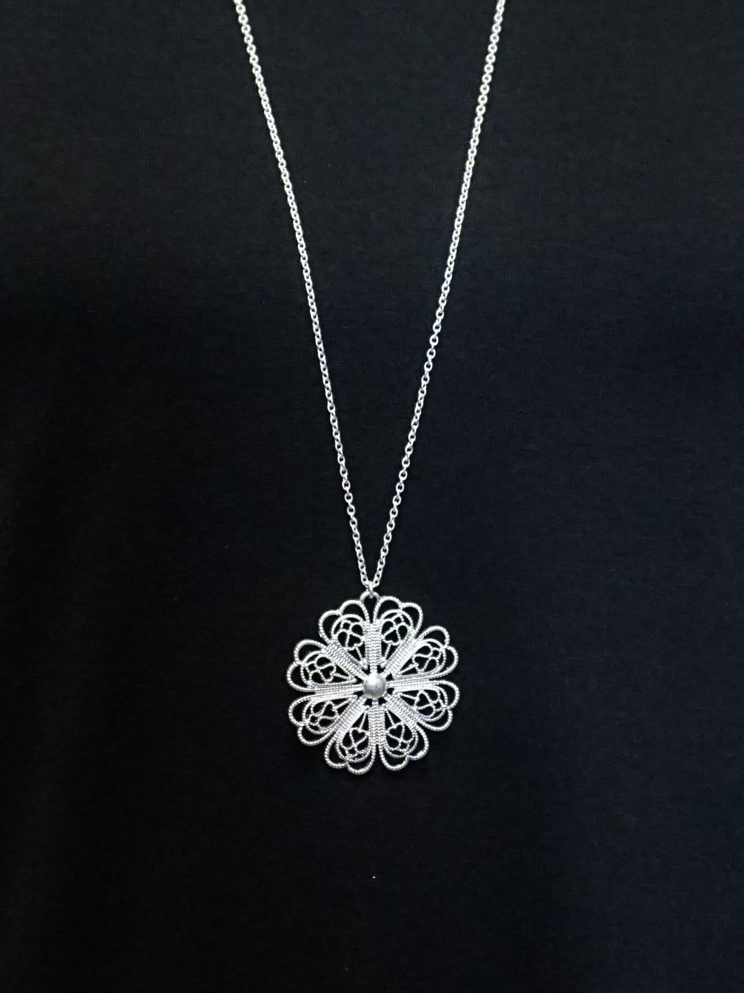 Jewelry Venice - Long Chain Necklace - Silver - The Ruby Lotus Boutique