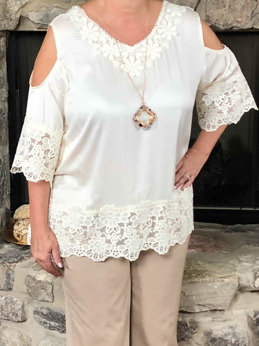 Top Allison - Cream - The Ruby Lotus Boutique